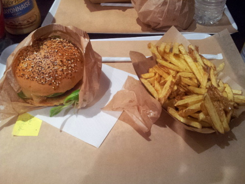frites burger végétarien