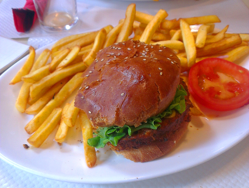 burger végétarien bia