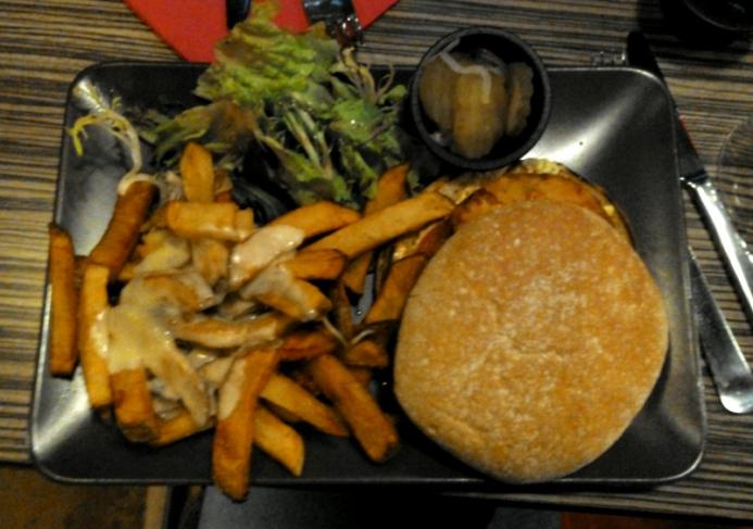 burger végétarien vu de haut