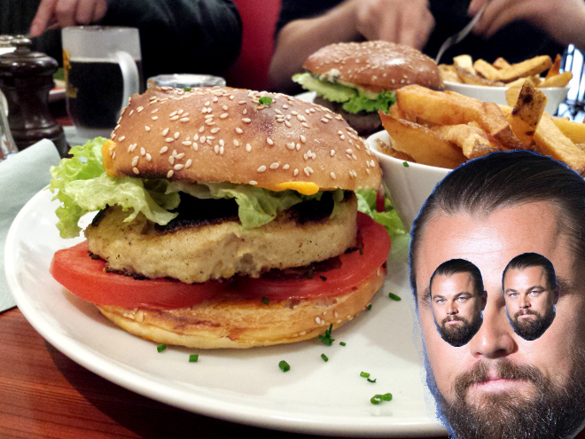 Burger, avec Léonardo DiCaprio gimpé à droite.