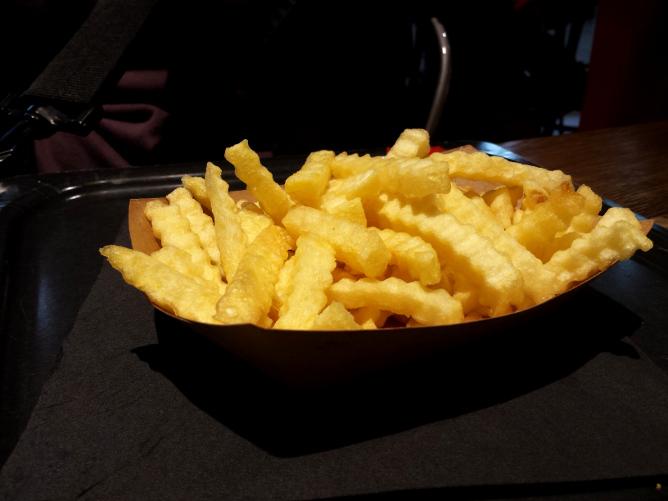 frites en forme de vaguelette