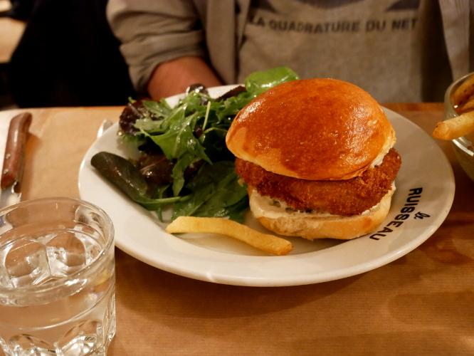 burger végétarien du Ruisseau
